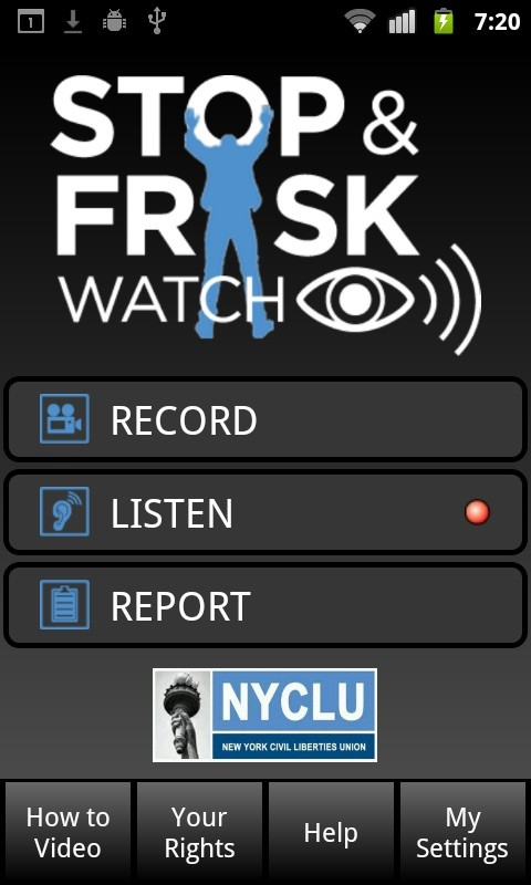 stop and frisk app nyclu