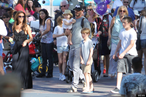 beckhams at disneyland