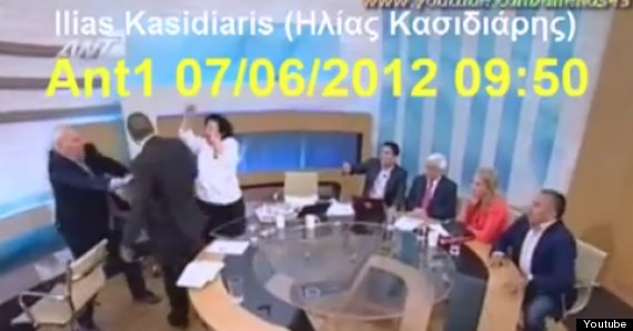 greek politicians attack