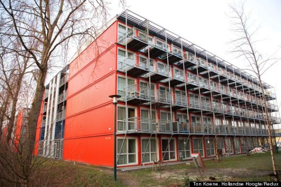 Amsterdam 39 s shipping container homes are lean and green Container appartement