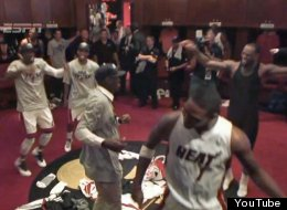 Miami Heat Locker Room Dance Party Celtics Game 7
