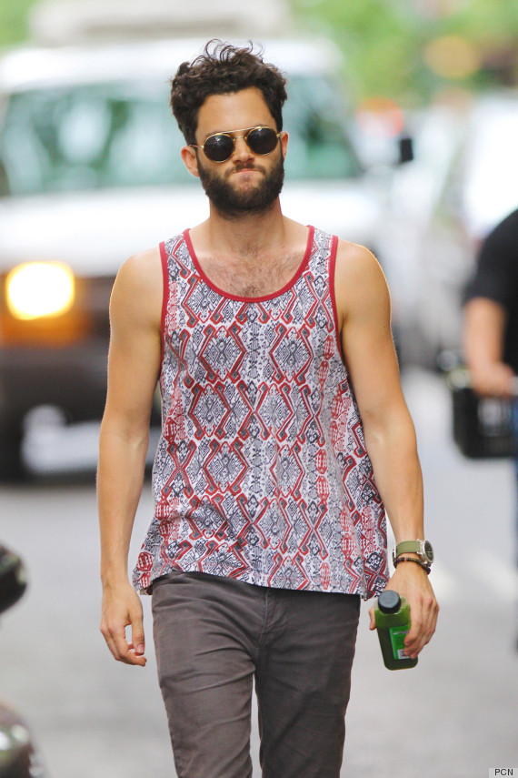 penn badgley facial hair