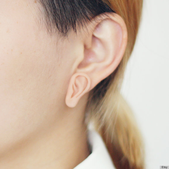 Plugs that look like earrings