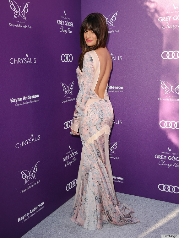 lea michele backless