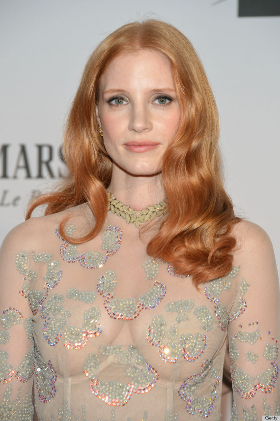 Jessica Chastain Tony Awards 2012 Dress Is Sheer Sheer
