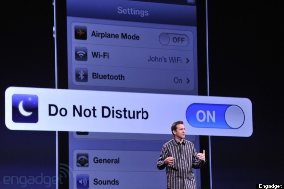 do not disturb apple