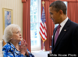 Betty White Barack Obama