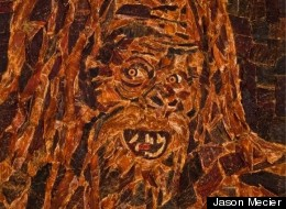 PHOTO: Sasquatch Portrait Is Made Out Of Beef Jerky