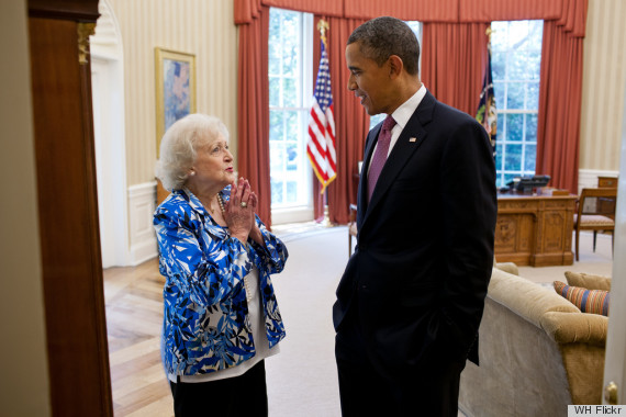 betty white bo obama