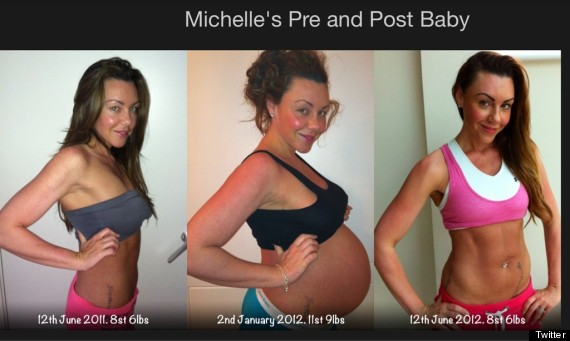 Michelle Heaton Unveils Her Post Baby Body On Twitter