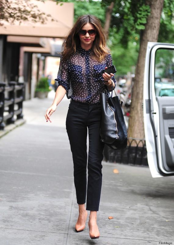 Miranda Kerr Sheer Shirt How To Not Dress Like A Wife -5920
