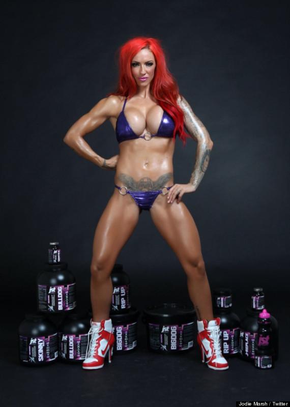 jodie marsh unveils her own brand of bodybuilding supplements