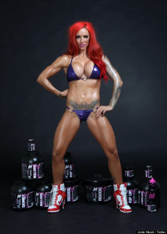 The ads for the jstJodie range see the former glamour girl showing off