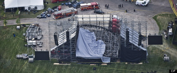 DOWNSVIEW PARK STAGE COLLAPSE RADIOHEAD