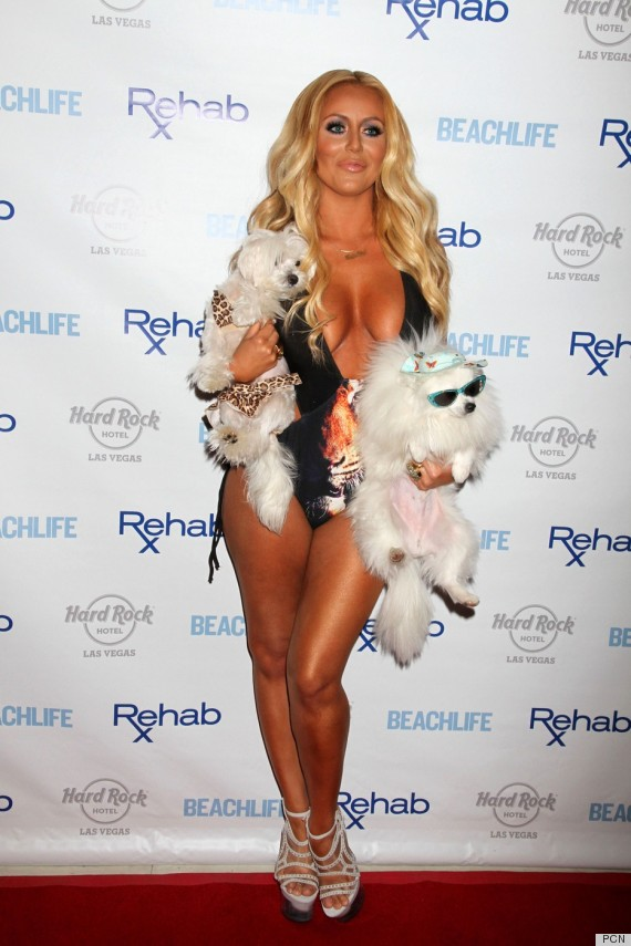 Aubrey O Day Poses At The Hard Rock Hotel In Las Vegas