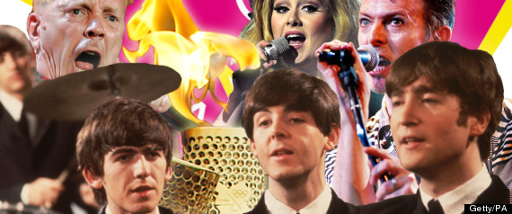OLYMPIC SONG LIST BOWIE DAVID ADELE BEATLES