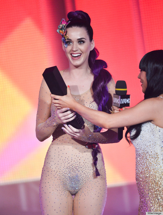 Katy Perry's Sheer Bodysuit Shows Off Too Much At MuchMusic Awards