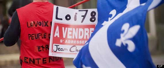 Quebec Bill 78 Un