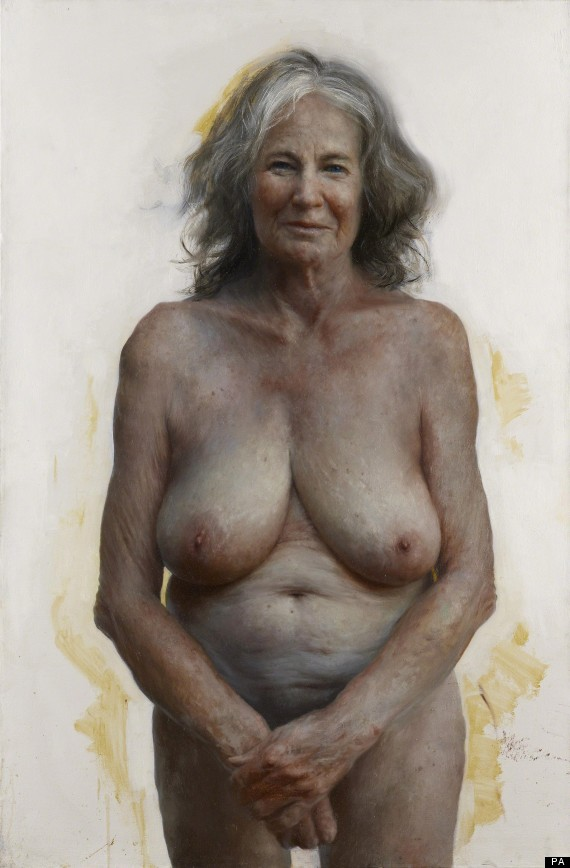 topless grandmother