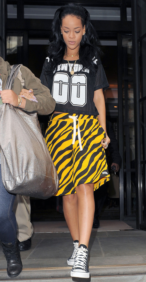 rihanna tiger shorts