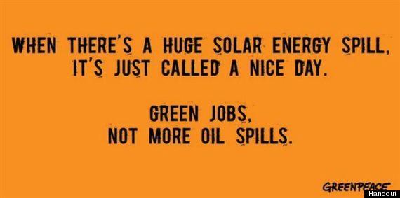 greenpeace solar ad oil spills