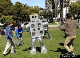 Dancing Robot In Dolores Park