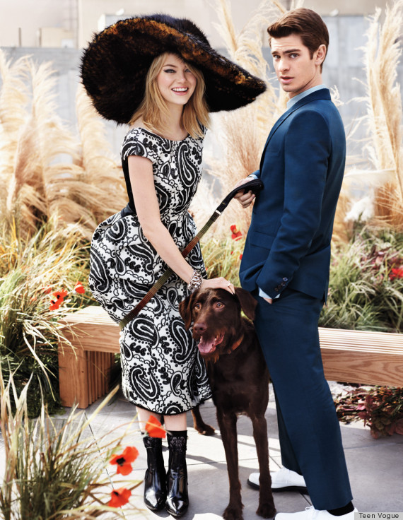 Emma Stone Covers Teen Vogue With Andrew Garfield Reaches