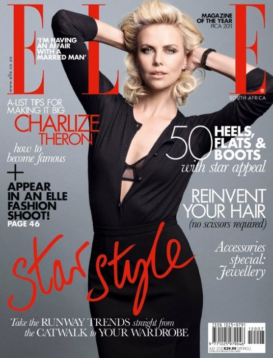 charlize theron elle