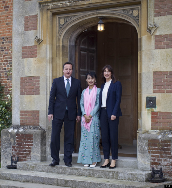 Aung San Suu Kyi Visits Chequers For Lunch With David And