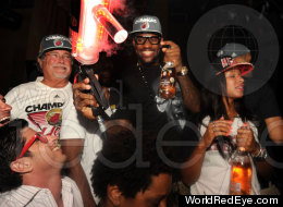 Miami Heat Liv Nightclub Party Celebration Nba