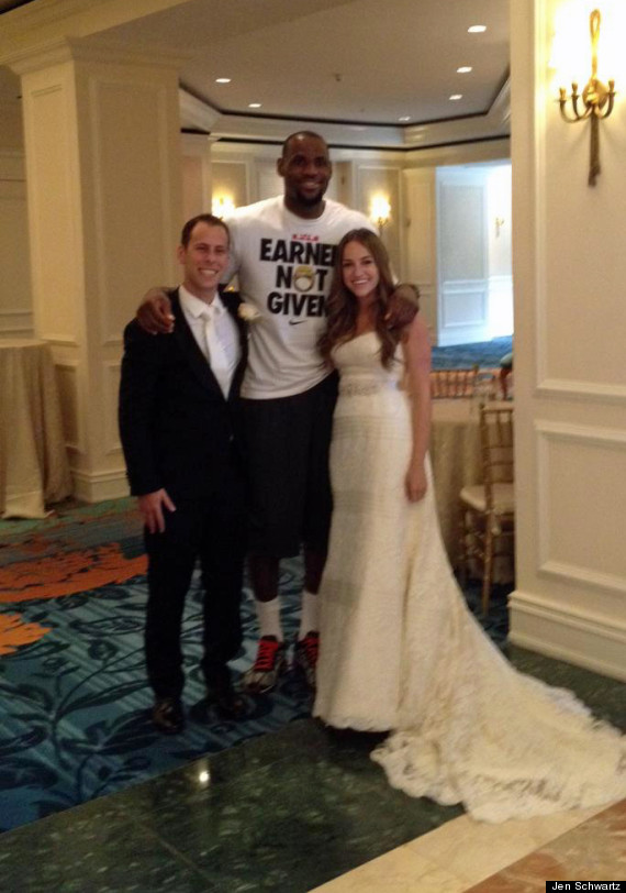 Lebron James Wedding | Lebron James Surprises Wedding Party Heat Star Poses With Shaun And