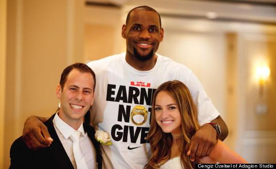 lebron james wedding shaun jamie kolnick