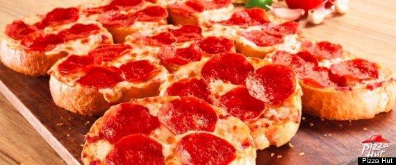 PIZZA HUT GARLIC BREAD PIZZA