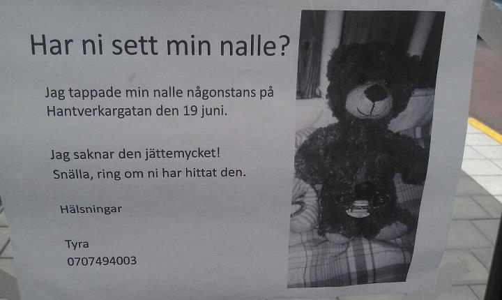 police search for teddy bear