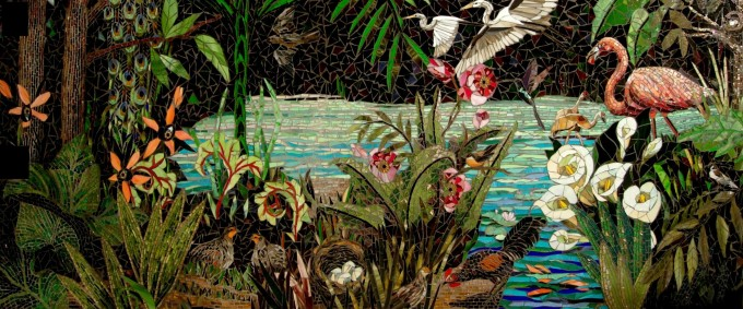 mosaic artwork made from a thousand little pieces