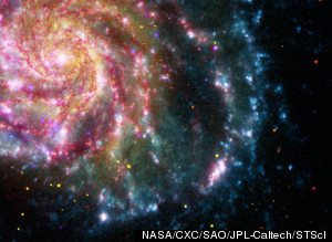 You've Never Seen Galaxies Like This Before The Pinwheel Galaxy, M101, Imaged By Four NASA Telescopes