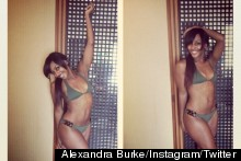 Alexandra Burke Tweets Photos Of Her Bikini Body From Miami