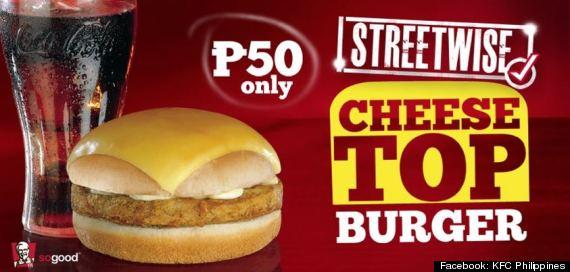 kfc philippines cheese top burger