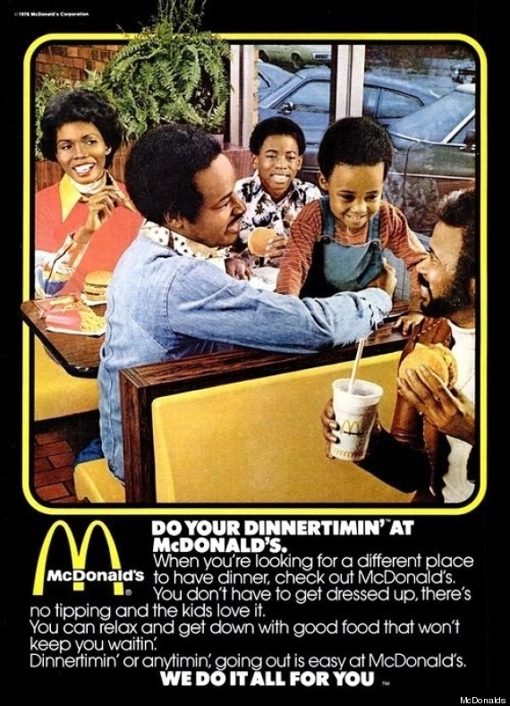 mcdonalds 1970s ad african american