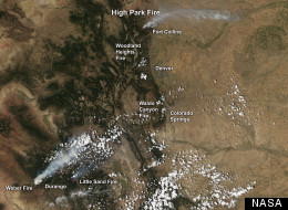 Colorado Wildfires From Space