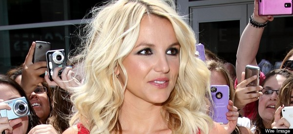 Hello Boys Britney Wows In Cleavage Busting Dress At X