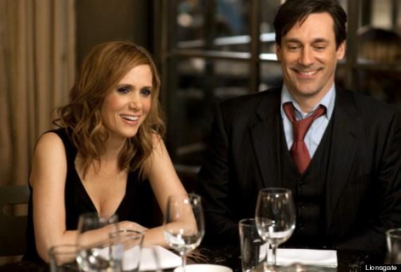 Hamm with Kristen Wiig in Friends With Kids: http://www.huffingtonpost.co.uk/2012/06/29/jon-hamm-mad-menn-friends-with-kids-megan-fox_n_1636470.html