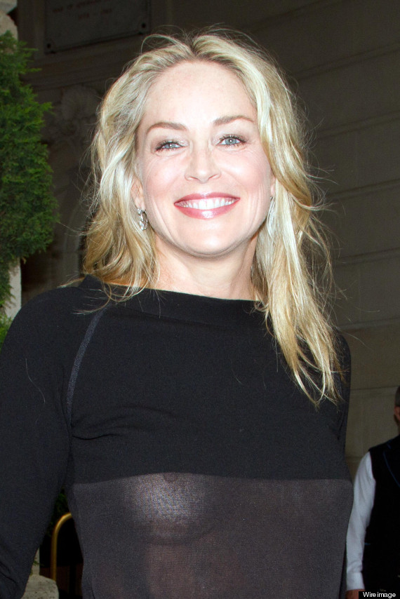 Sharon Stone Suffers A Wardrobe Malfunction In See-Through Top. Except