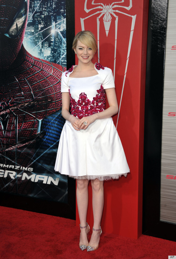 Emma Stone In Chanel Wows At Amazing Spider Man Premiere Reveals Childhood Style Icons