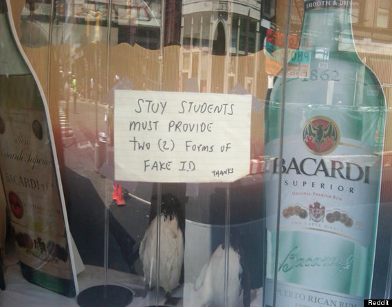 funny liquor store sign