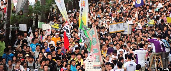 HONG KONG DEMOCRACY RALLY