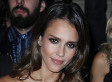 Jessica Alba Stuns In Leather Dress At Paris Fashion Week (PHOTOS)