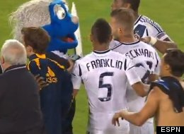 Beckham Mascot Fight