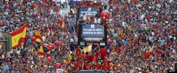 RETOUR ESPAGNE EURO 2012