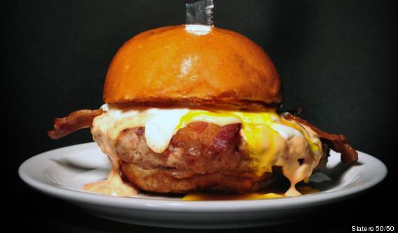 hamburger patty bacon